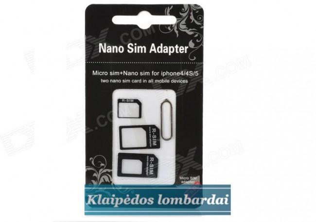 NANO-MICRO SIM ADAPTERIS