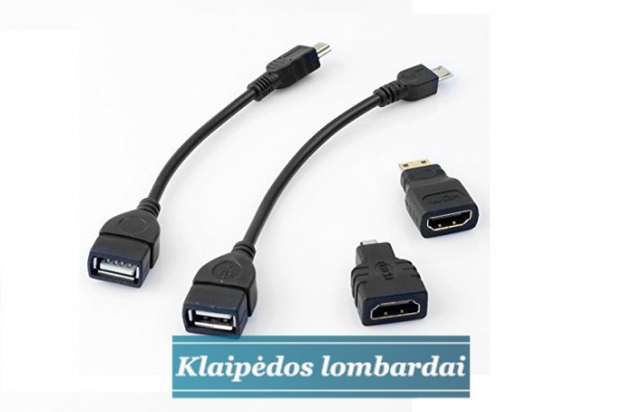 USB MICRO USB, HDMI MICRO PERĖJIMAI